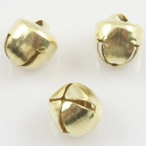 Decorative bells, High quality metal alloy, Gold colour, Diameter 10mm, 15 pieces, (CLD050)